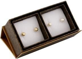 Bella Pearl 14K Gold Boxed Duo Earring Set SET-T