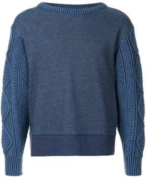Rag & Bone argyle sleeve jumper