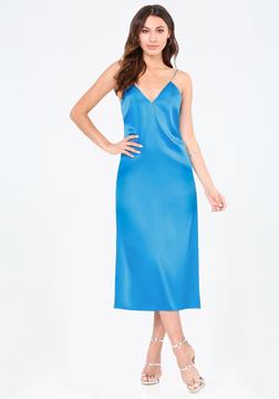 Bebe Mara Silk Slip Dress