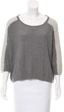 Ella Moss Cable Knit Three-Quarter Sleeve Sweater