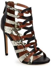 BCBGMAXAZRIA Valentia Leather Open Toe Sandals