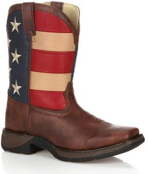 Durango Lil Kids' American Flag 8-in. Western Boots