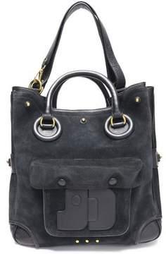 Jerome Dreyfuss Leather-Trimmed Suede Shoulder Bag