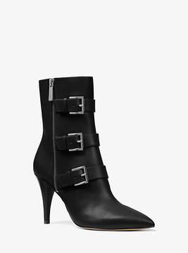 Michael Kors Lori Leather Mid-Calf Boot