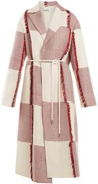 Jil Sander England tie-waist woven coat