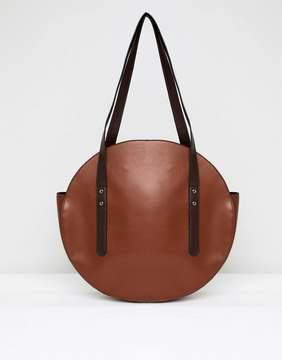 Asos DESIGN circle shopper bag with hardware detail
