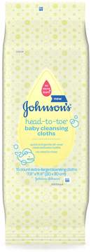Johnson's® Head-to-Toe Cleansing Cloths