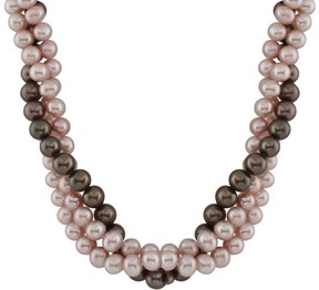 Bella Pearl Purple and Chocolate Freshwater Pearl Necklace