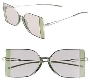 Calvin Klein Women's 51Mm Butterfly Sunglasses - Silver