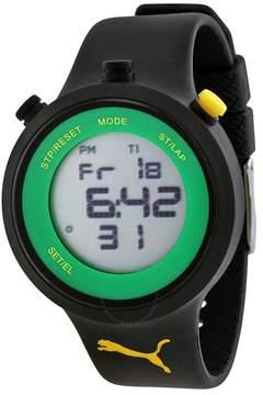 Puma Go Grey Digital Black Silicone Men's Watch