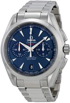 Omega Seamaster Aqua Terra Chronograph Automatic Chronometer Blue Dial Men's Watch