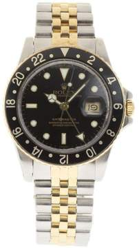 Rolex GMT Master 16753 Stainless Steel & 18K Yellow Gold Black Dial Automatic 40mm Mens Watch 1980