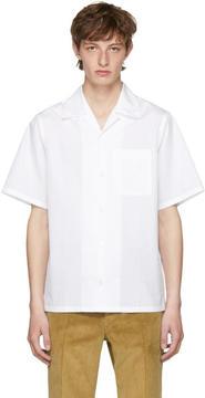 Prada White Poplin Bowling Shirt