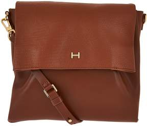 Halston H By H by Lizard Embossed and Smooth Leather Crossbody Bag