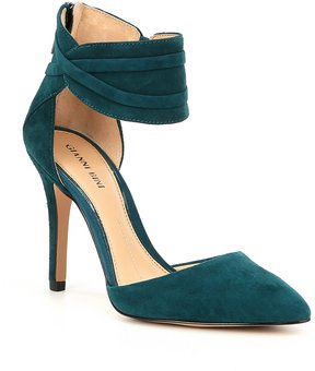 Gianni Bini Valara Suede Ankle Strap Pumps