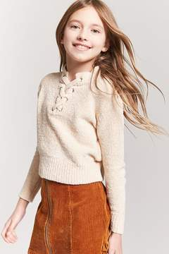 Forever 21 Chenille Lace-Up Top (Kids)