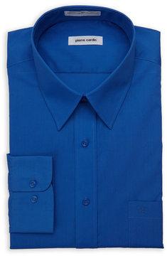 Pierre Cardin Cobalt Blue Regular Fit Open Pocket Dress Shirt