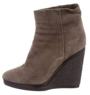 Calvin Klein Collection Suede Wedge Ankle Boots