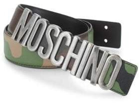 Moschino Camouflage Leather Belt