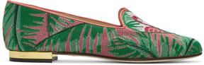Charlotte Olympia Multicolor Flamingo Slippers
