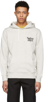 Saturdays NYC Grey Ditch Miller Logo Hoodie