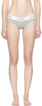 Calvin Klein Underwear Grey Modern Cotton Bikini Briefs