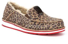 Ariat Cruiser Fleece Cheetah Print Suede Slip-Ons