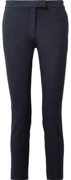 Joseph Finley Cropped Stretch-gabardine Tapered Pants - Navy