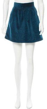 Steven Alan Velvet Mini Skirt