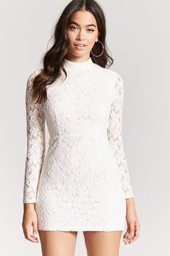 Forever 21 Mock Neck Lace Dress