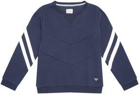 Armani Junior Striped Sleeve Sweatshirt