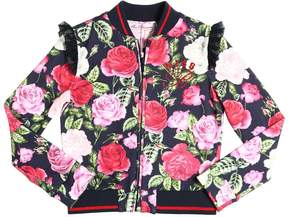 Miss Blumarine Floral Printed Cotton Sweatshirt