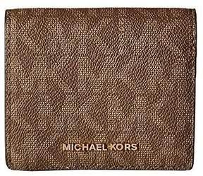 MICHAEL Michael Kors Jet Set Logo Card Holder - MOCHA - STYLE
