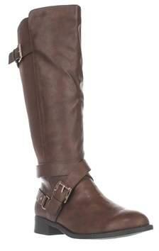 Thalia Sodi Ts35 Vada Stretch Knee High Harness Boots, Cognac.