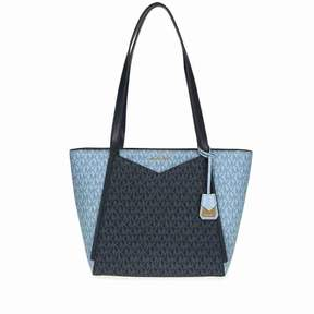 Michael Kors Whitney Small Signature Logo Tote - ADMIRAL/PALE BLUE - STYLE