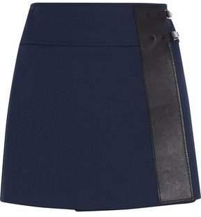 Belstaff Wrap-Efffect Cotton-Blend Jersey Mini Skirt