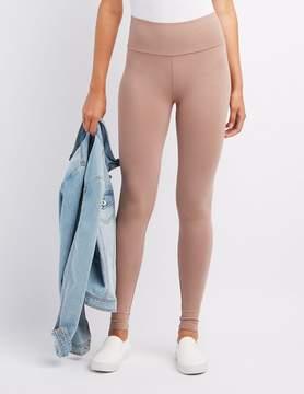Charlotte Russe High-Waist Stretch Cotton Leggings
