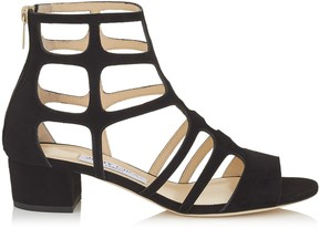 Jimmy Choo REN 35 Black Suede Sandals