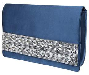 Nina Slip-thru Handle Clutch/crystl.