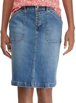 Chaps Petite Stretch Denim Skirt
