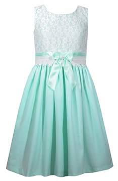 Bonnie Jean Girls 4-6x Sleeveless Open-Back Linen Dress