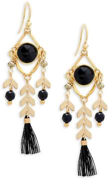 Chan Luu Women's Gemstone and Sterling Silver Tassel Drop Earrings