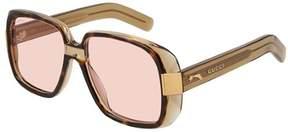 Gucci Sunglasses GG 0318 S- 003 HAVANA/PINK GREEN