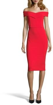 ECI Women's Off The Shoulder Sheath Dress