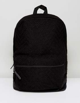 Asos Backpack In Black Texture