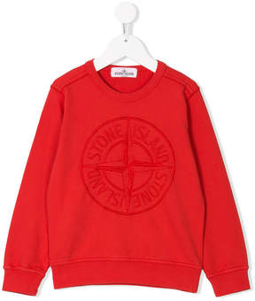 Stone Island Junior embroidered logo sweatshirt