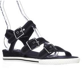 Marc Jacobs Marc M9000141 Buckle Strap Sandals, Black.