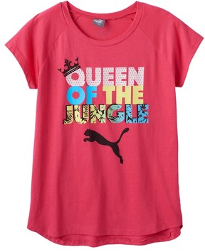 Puma Girls 7-16 Queen of the Jungle Graphic Tee