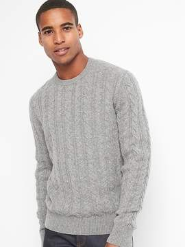 Gap Wool cable-knit crewneck sweater