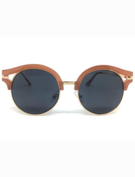 ELOQUII Round Sunglasses with Chunky Brow